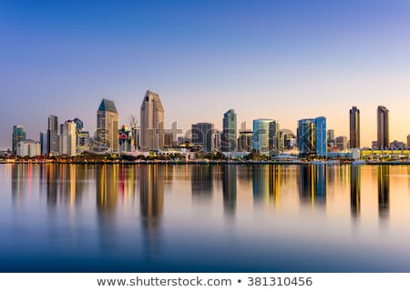San · Diego · centrum · skyline · Californië · laat · namiddag - stockfoto © hlehnerer