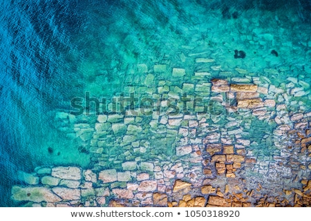 aerial view of the city and sea sunny day stock photo © taiga