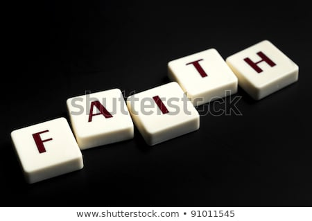Faith word made by letter pieces  Stock photo © fuzzbones0