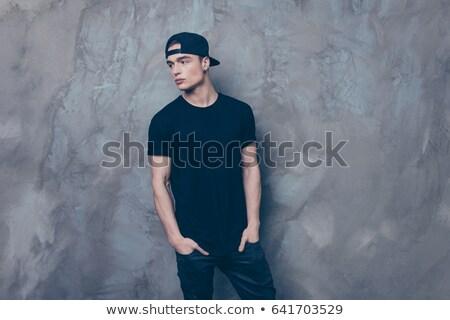 Cap zwarte oren mode najaar kleur Stockfoto © shutswis