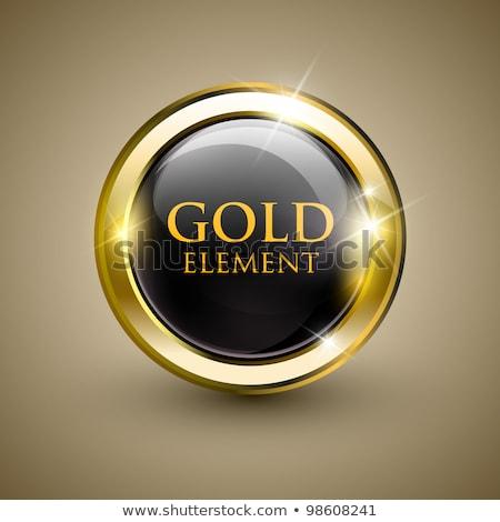 Computer Golden Vector Icon Button stock photo © rizwanali3d
