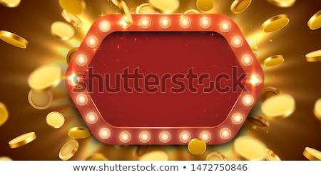 ギャンブル · 実例 · カジノ · 要素 · リボン · 背景 - ストックフォト © lenm