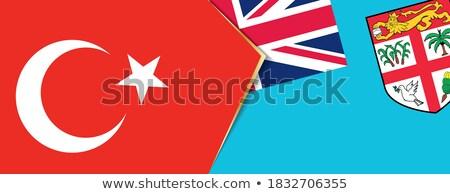 Törökország Fidzsi-szigetek zászlók puzzle izolált fehér Stock fotó © Istanbul2009