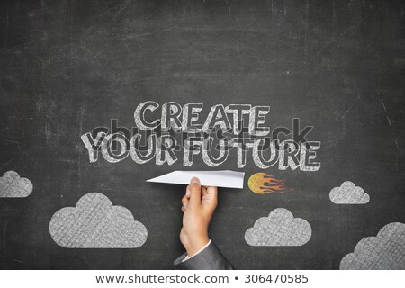 Create Your Future. Inspirational Quote on Chalkboard. Stock photo © tashatuvango