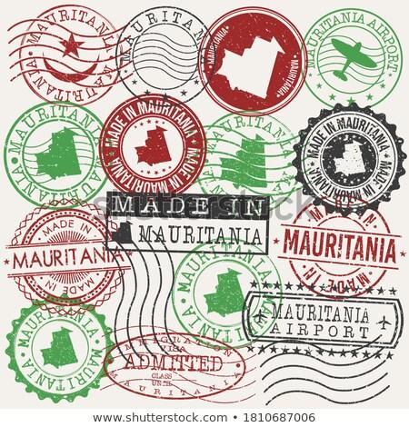 モーリタニア 国 フラグ 地図 文字 ストックフォト © tony4urban