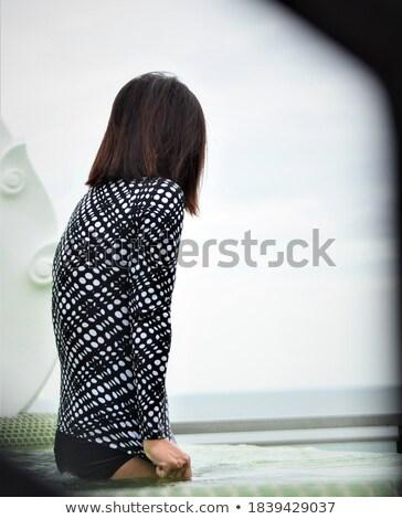 femme · mer · belle · jeune · femme · plage - photo stock © artfotoss