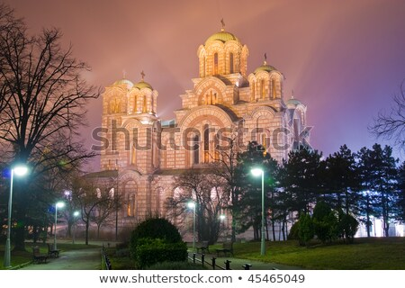 Church of St. Marco at night. Belgrade, Serbia Stock photo © Kirill_M