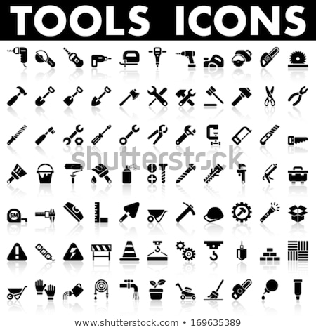 Woodworking industry and tools icons - vector icon set Stock photo © netkov1