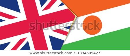 Büyük Britanya Nijer bayraklar bilmece yalıtılmış beyaz Stok fotoğraf © Istanbul2009