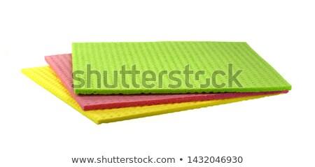 éponge drap pièce bleu couleur fond Photo stock © Camel2000
