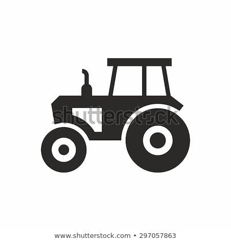 vector icons of a tractor Stock photo © freesoulproduction
