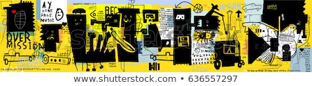man in graffiti background Stock photo © Studiotrebuchet