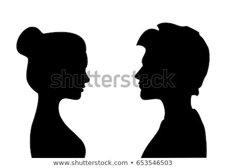 Stock photo: Gender symbol- girl and boy