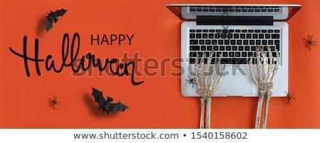Arrepiante halloween esqueleto ossos projeto fundo Foto stock © kabby