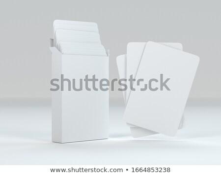 Fehér papír kártya doboz vázlat Stock fotó © Akhilesh