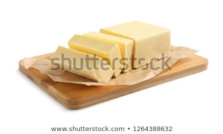 クローズアップ · バター · 木材 · 写真 · 水平な · 白地 - ストックフォト © yelenayemchuk