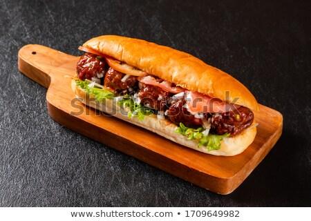 Meatball sandwich Stock photo © Digifoodstock