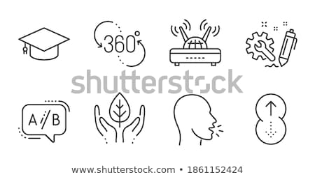 Graduación CAP wifi signo línea icono Foto stock © RAStudio