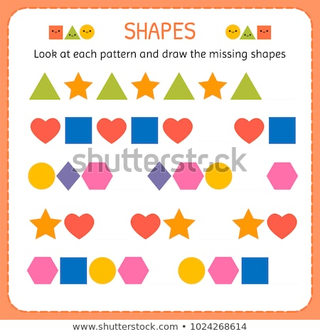 pattern activity with shapes Stock photo © izakowski