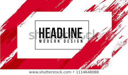 Abstract stylish background black red ink paint. Stock photo © sdmix