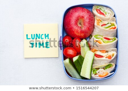 lunch time with wraps and fruits Stock photo © M-studio