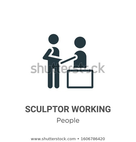 Handmade hobby activities vector flat silhouettes icons Stock photo © vectorikart