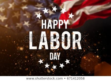 Szczęśliwy dzień USA banderą star Zdjęcia stock © m_pavlov
