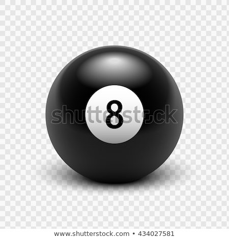 An Eight Ball and Cue Ball on a Green Billiards Table Stock photo © Frankljr