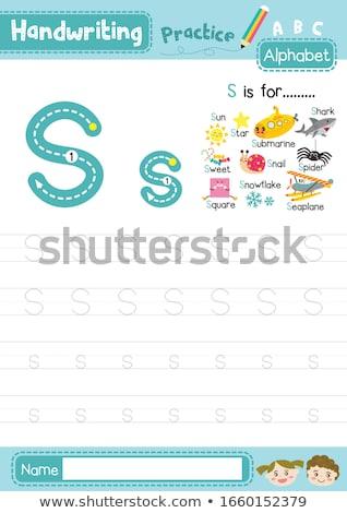 List podwodny ilustracja tle sztuki edukacji Zdjęcia stock © bluering