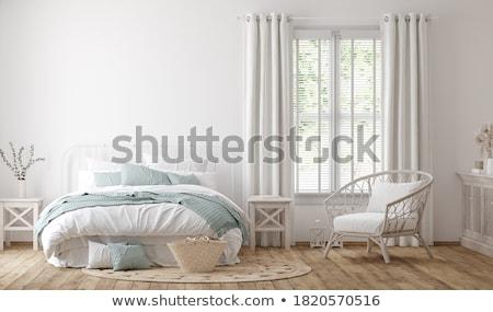 pencere · yatak · odası · iç · ev · çatı · katı · güzel - stok fotoğraf © cosma