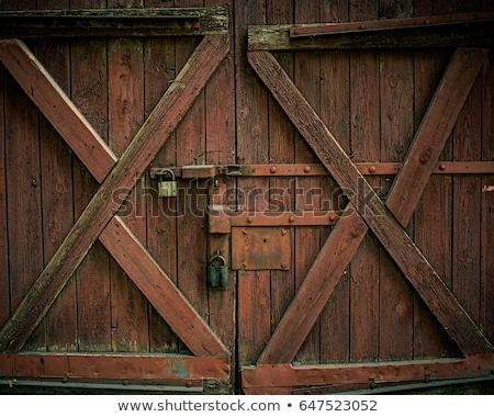ferro · cancello · recinzione · chiuso · grande · bianco - foto d'archivio © digifoodstock