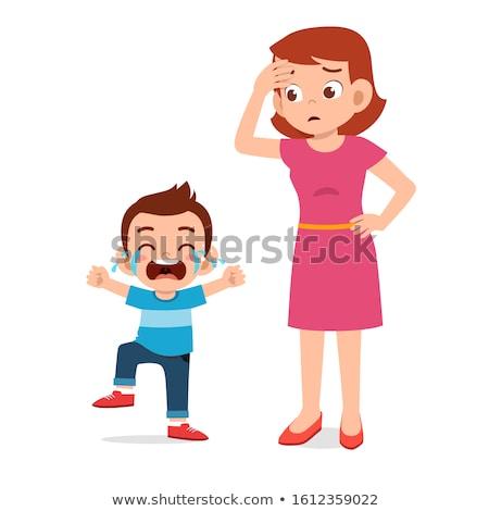 Choro pequeno criança cara espaço menino Foto stock © zurijeta