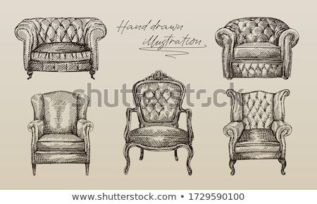 fotolijstje · kroonluchter · antieke · vector · meubels · zwarte - stockfoto © beaubelle