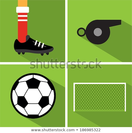 Set of soccer balls with nets and goal posts Stock photo © adrian_n