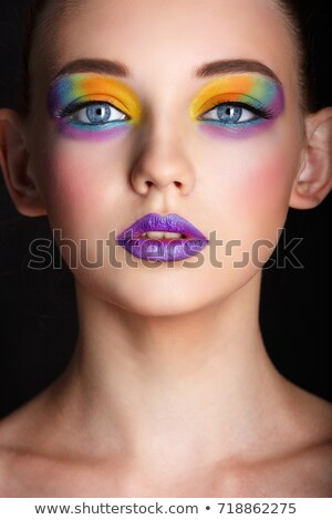 purple lipstick lips Stock photo © lubavnel