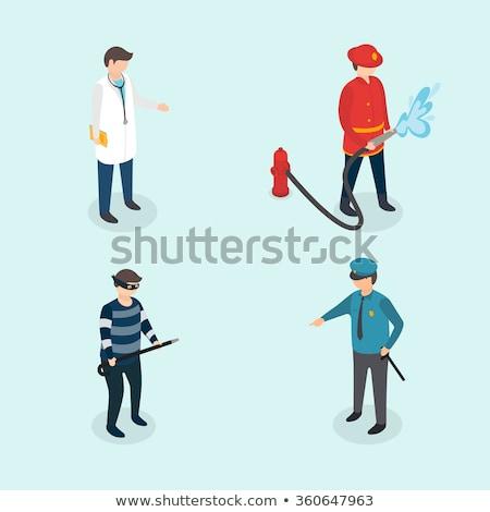 полиции иллюстрация человека мальчика белый человек Сток-фото © bluering