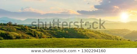 Tepeler gün batımı dağlar dışında Kolombiya gökyüzü Stok fotoğraf © jkraft5