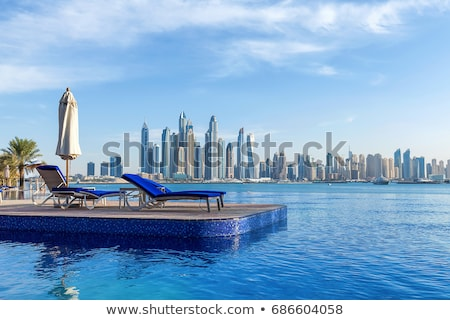 Kilátás úszómedence Dubai marina nyár nap Stock fotó © CaptureLight