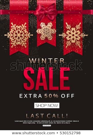 christmas signboard template eps 10 stock photo © beholdereye