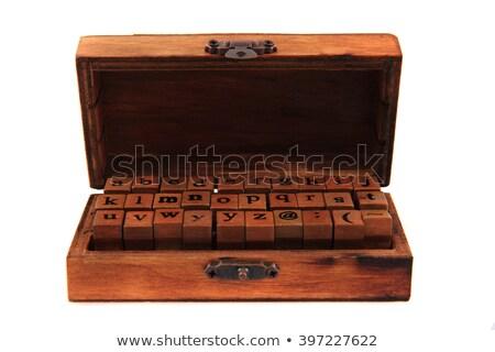 wasknijper · houten · geïsoleerd · witte · brief - stockfoto © jonnysek