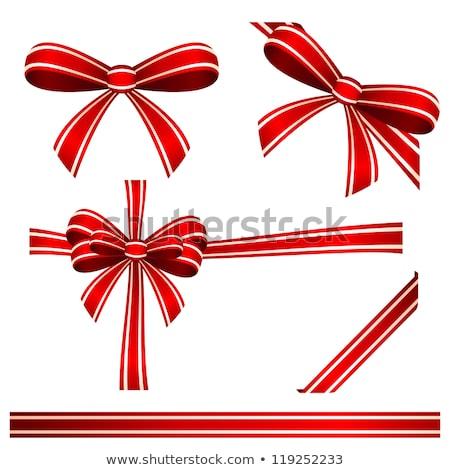 Elegante rojo raso regalo cinta eps Foto stock © beholdereye