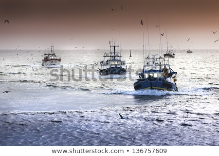 Fishing Boat In Deep Fog Stock photo © searagen