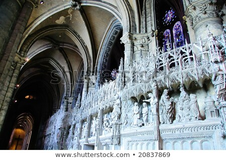 interior of chartres cathedral france stock photo © dutourdumonde