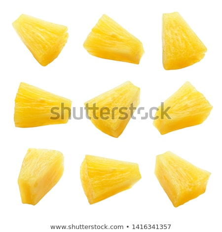 ananas · stukken · selectieve · aandacht · groene · tropische · studio - stockfoto © digifoodstock