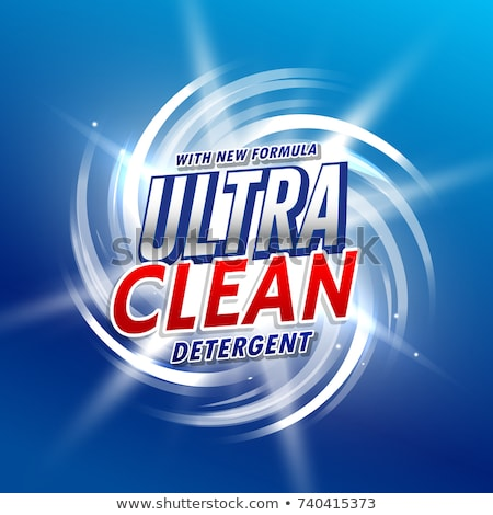 creative blue laundry detergent product packaging design Stock photo © SArts