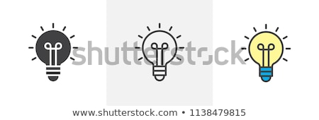 Light bulb icon in color Stock photo © Noedelhap