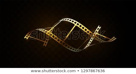 Moderne 3D realistisch filmstrip ontwerp film Stockfoto © SArts