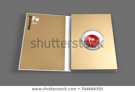 Mockup book of Iron mineral. Illustration Stock photo © tussik