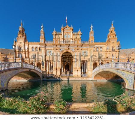 Fountain on Plaza de Espana, Seville, Andalusia, Spain Stock photo © CaptureLight