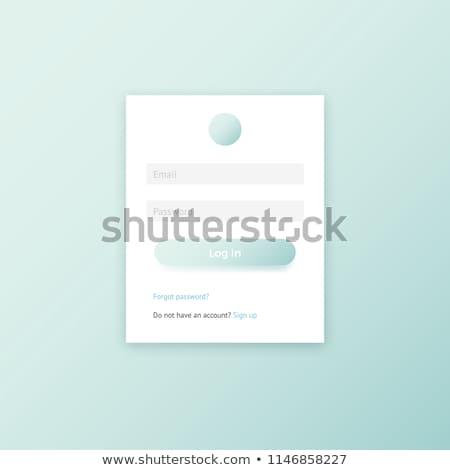 minimal white login form design template Stock photo © SArts